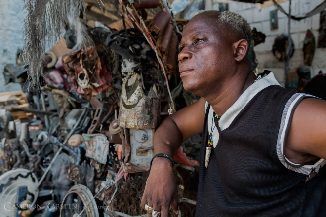André Eugène, founder of Atis Rezistans in downtown Port-au-Prince believes that Haitian culture must be preserved, from its past to present. Vodou is a part of Haitian culture. It is said that 95% of Haitians are Christian while 100% are vodou.