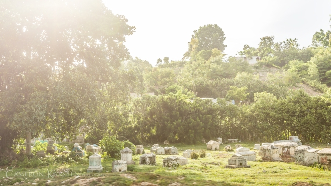 Cemeteries are both part of the Catholic and vodou traditions. For vodouisants, many of the celebrations surrounding the dead are held at cemeteries, as well as the much misconceived zombie phenomenon.