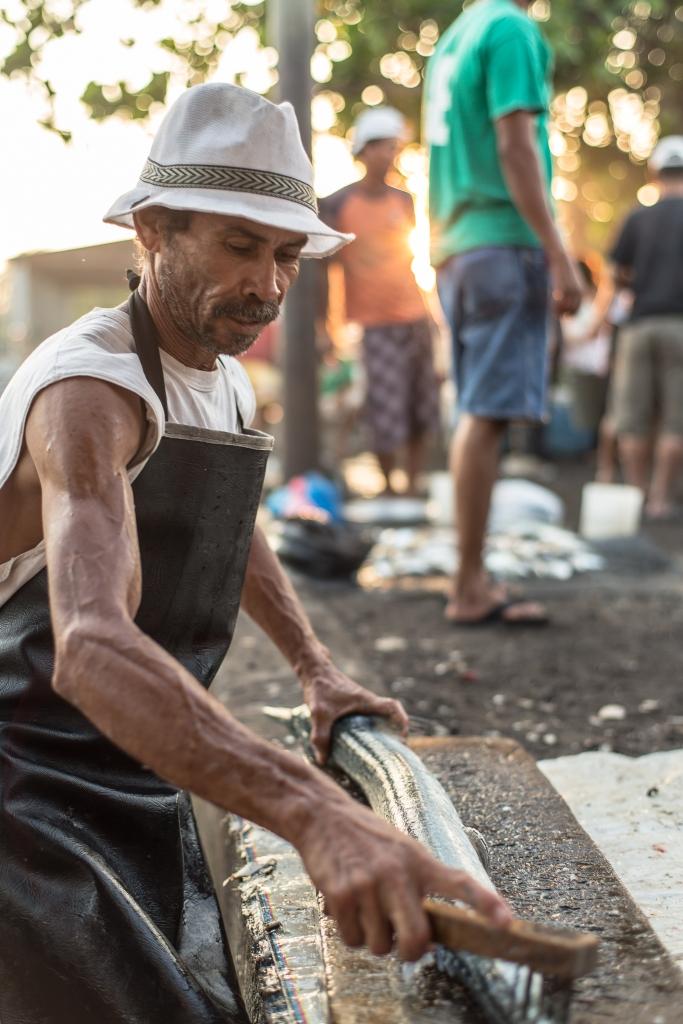 Grundens recreational sportfishing clothing line in Guatemala