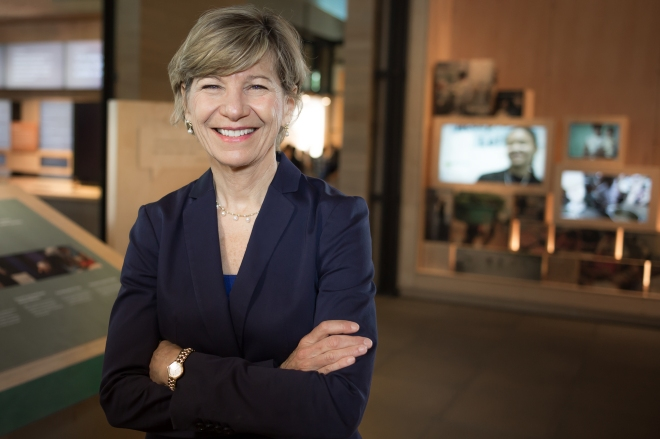 Gates Foundation CEO Susan Desmond-Hellmann in Seattle, WA
