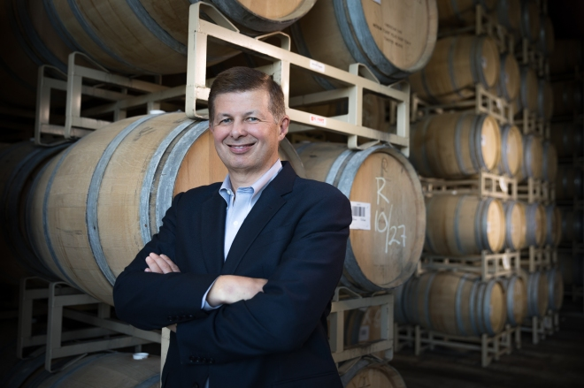 Ste. Michelle Wine Estates CEO Ted Baseler in Woodinville, WA
