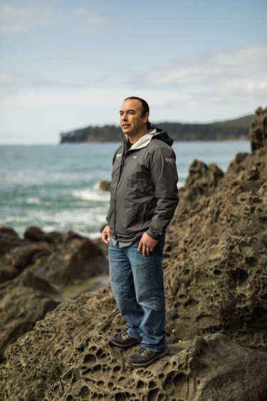 © Cameron Karsten Photography The Nature Conservancy at the Makah Reservation in Neah Bay, WA with Tribal member TJ